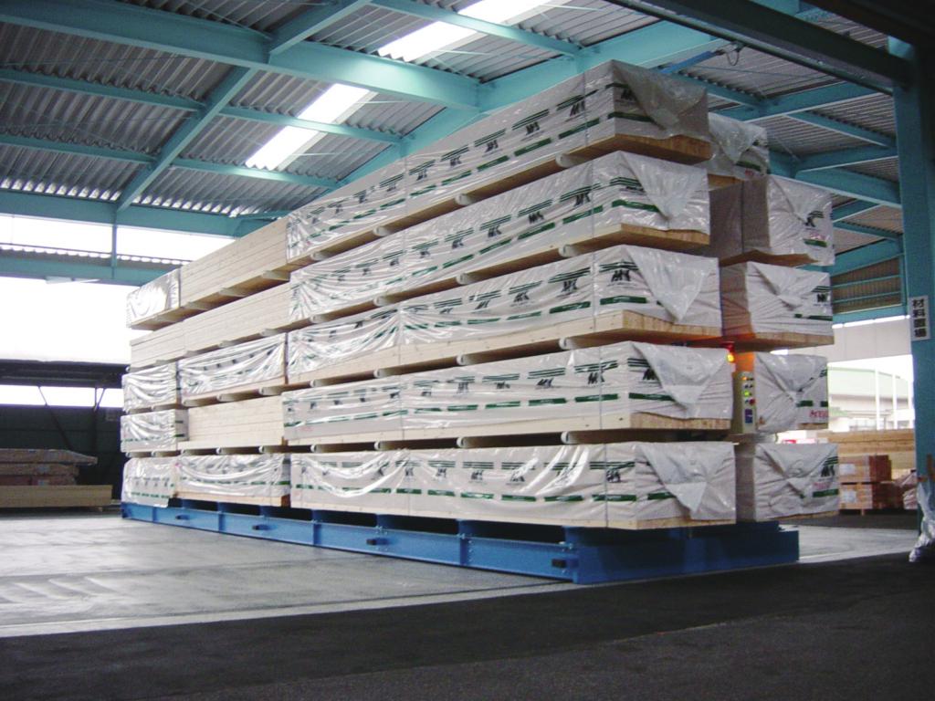 移動ラック カンチラック マテハン三重 長尺物・木材を集約保管