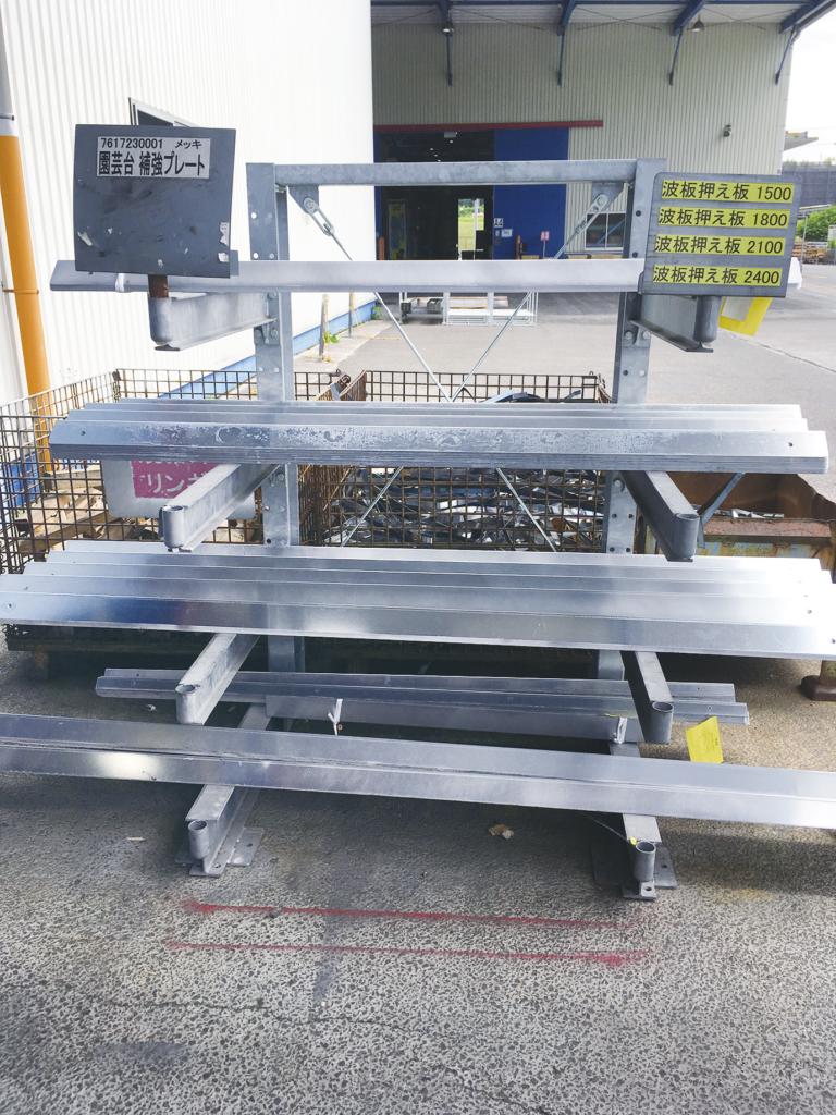 固定ラック カンチラック マテハン三重 長尺物保管 耐荷重400kg/本