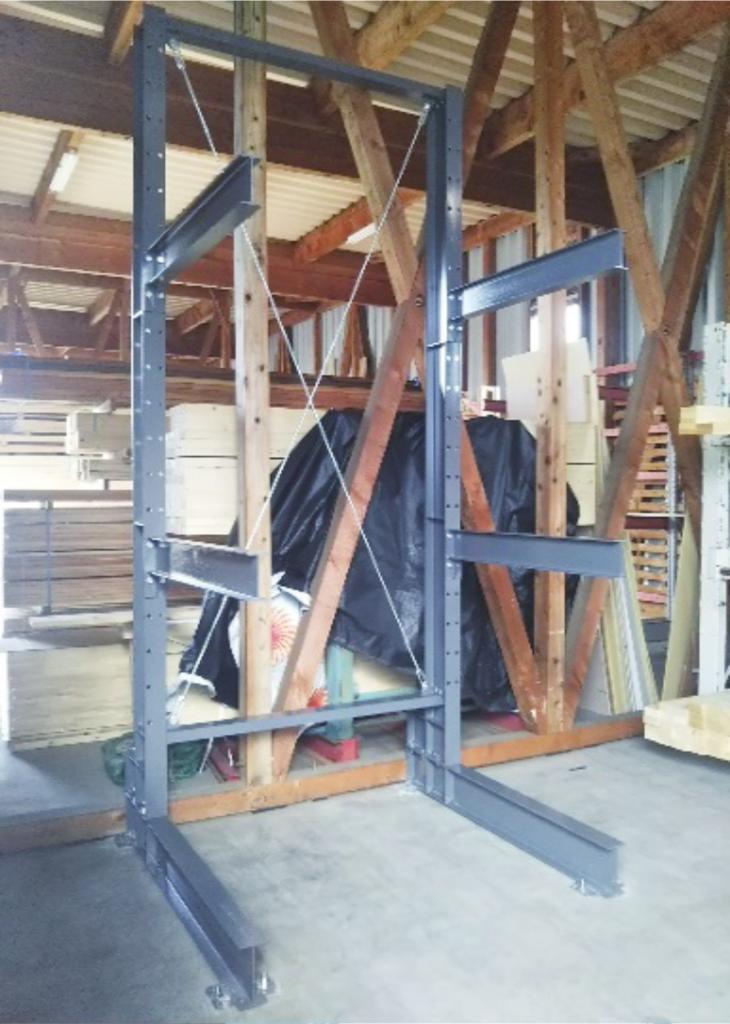 ボルト式02 カンチラック ボルト式 木材保管 重量ラック 低価格