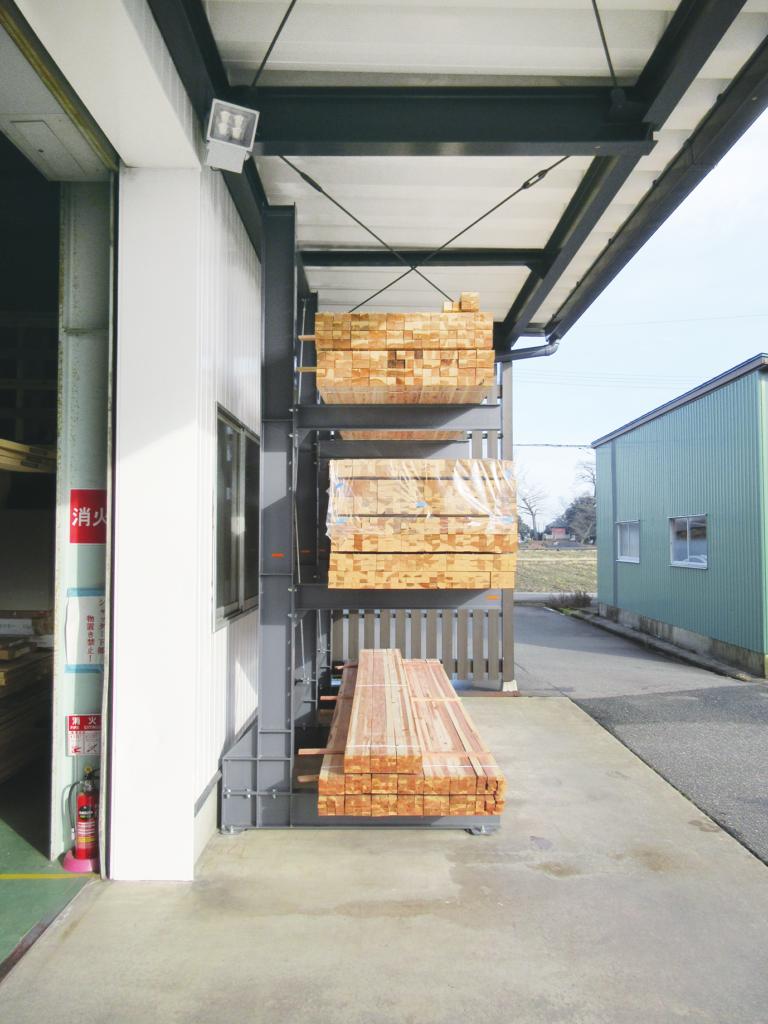 固定ラック カンチラック 耐荷重400kg 長尺物保管 木材 建材保管