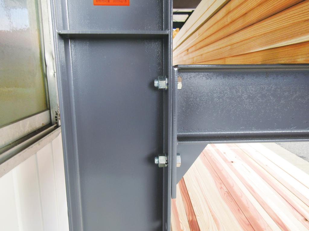 ボルト式03 カンチラック ボルト式 木材保管 重量ラック 低価格