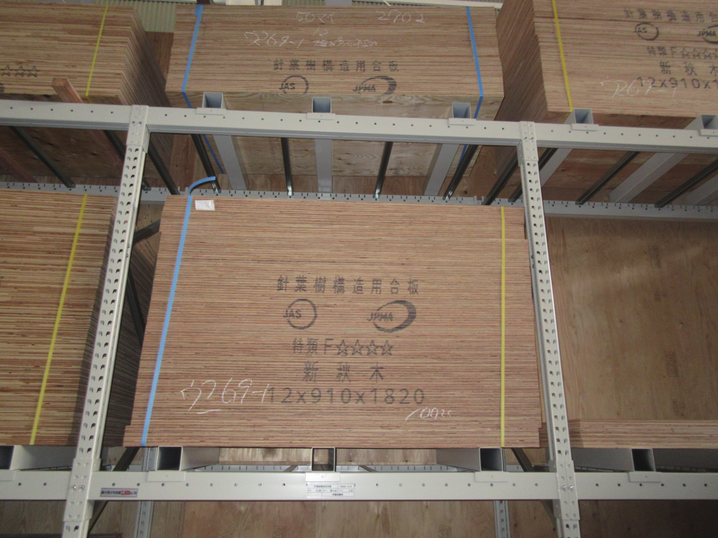 固定ラック パレットラック 耐荷重 2000kg 合板保管 3尺×6尺