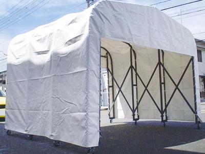 伸縮移動型テント OPEN